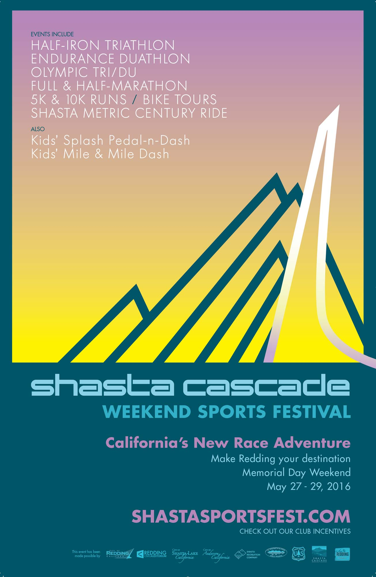 Our work: Shasta Cascade Sports Event Poster