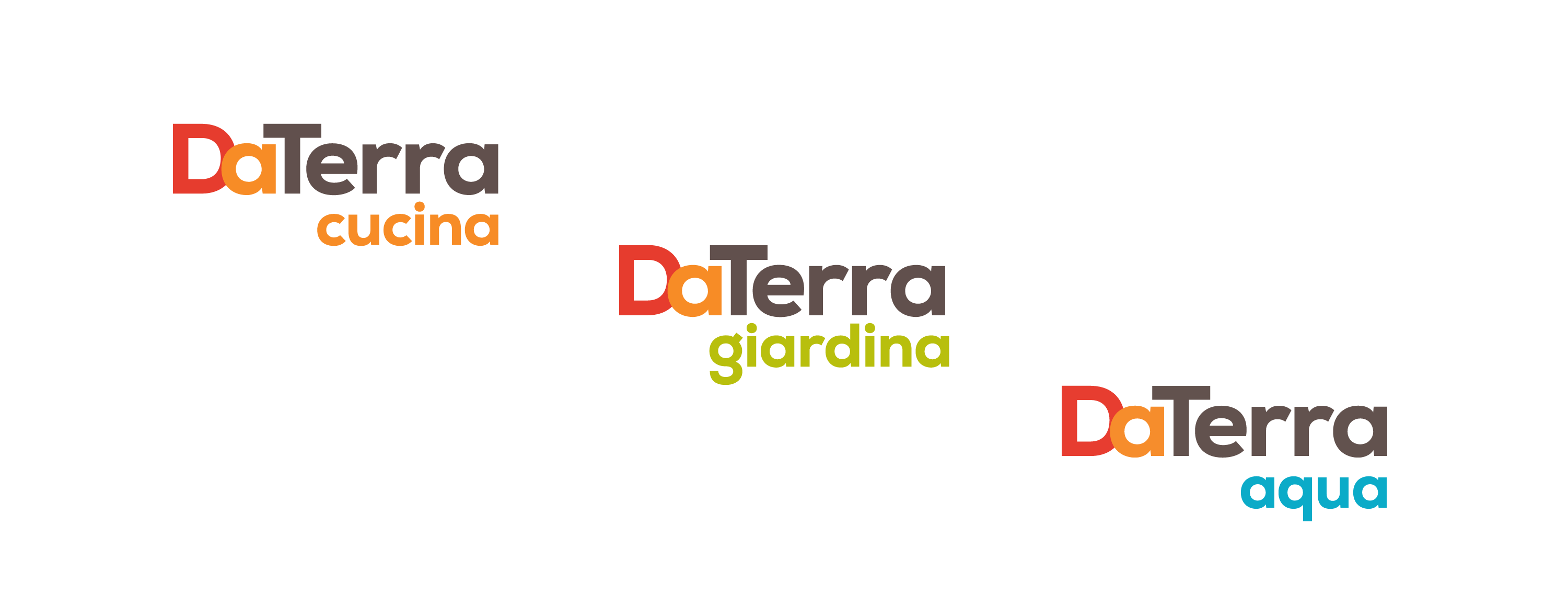 Brand and sub-brand designs for DaTerra.
